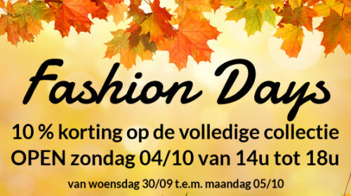 Fashion days Oktober 2020